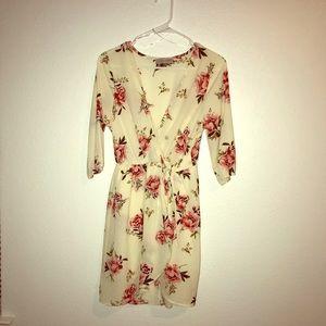 Short Summer Dress - Mauve Roses